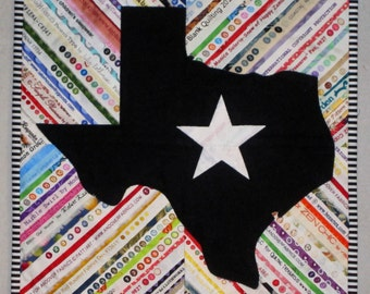 SELVAGE TEXAS Silhouette Outline Quilt from Quilts by Elena Selvages Wall Hanging Table Runner