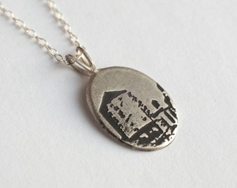 Brooklyn Necklace - Water Tower Necklace - Silver Water Tower - Brooklyn Jewelry - NYC Necklace - Water Tower Gift - Brooklyn Skyline