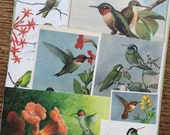 Hummingbirds Vintage Nature Collage, Scrapbook and Planner Kit Number 2102