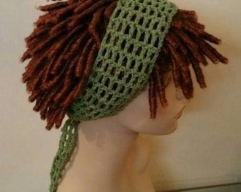 Tea leaf green Dread Headband