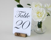 Table Number Cards (5 x 7) White Linen Table Number Cards