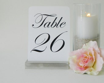 Table Number Holder + White Washed Table Number Holder + White wash distressed table number holder