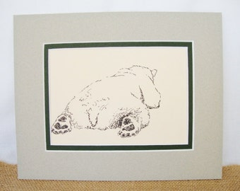 vintage polar bear art print 8 x 10 inch cookie at the national zoological park margaret brown