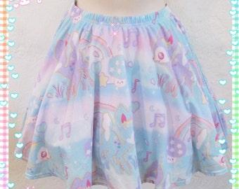 Twinkle Doe Skirt, Pastel Deer Skirt, Pastel Skirt, Fairy Kei Skirt, Kawaii Skirt,