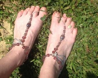 Purple Barefoot Sandals