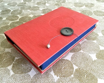 Red Vintage Hardcover Book Keepsake Box / trinket box / photo box / gift for her / mothers day gift