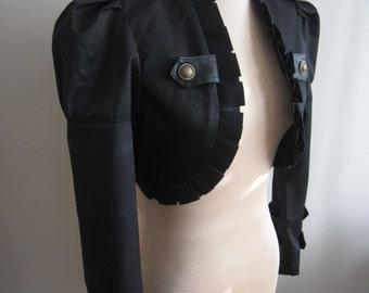 Steampunk black bolero jacket L-XL one available ready to ship