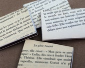 10 Foreign Language Book Page Wrapped Matchbox Wedding Favors