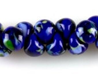 10 Teardrop Handmade Lampwork Beads -Matisse 13mm (22779)