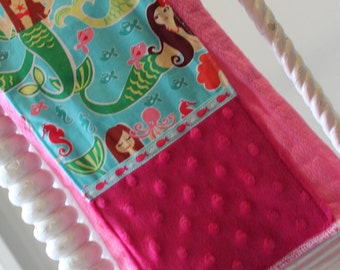 Baby Burp Cloths-Pink Mermaids-Preppy-Modern Stylish-Designer-Burps-Premium Cotton-Savvy Baby Goodies-Gifts-Girls
