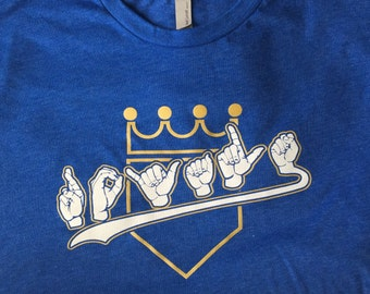 Kansas City Royals Fingerspelling ASL shirt