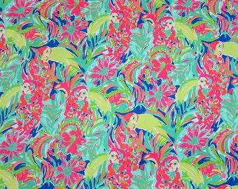 "5x5 Lilly Pulitzer inspired Spring 2016 ""Casa Banana"" Fabric"