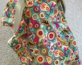 Car Seat Canopy..Baby Car Seat ..Canopy Carseat Cover... Funky Paisley ......Michaelmoodesign