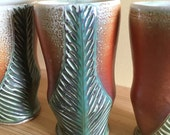Green Carved Cups