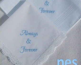 Wedding Embroidery, Always & Forever Bridal Embroidery Design in 4x4 Size - pes files