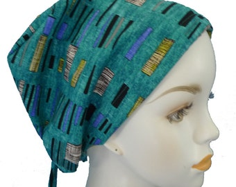 Elegant Teal Chemo Cancer Hair Loss Scarf Turban Hat Head Wrap Bad Hair Day