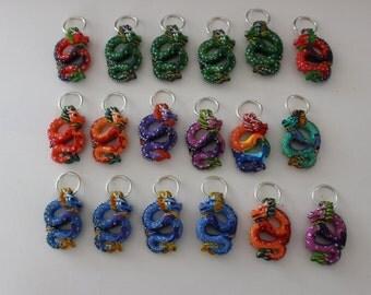 18 Dragon Ornaments, Package Tie Ons,  Pendants
