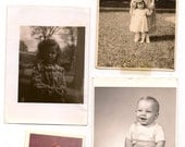 Eight Antique Photographs More Children Snapshots Great for Altered Art Projects