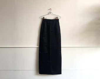 1960s Adolfo Satin Column Skirt.