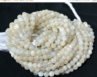 55% OFF SALE Full 14 Inches - 6mm Genuine White Moonstone Smooth Polished Round Beads Wholesale Price