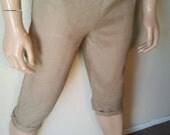 Hermans Hemp Men's 100 percent Hemp S tan shorts pants