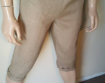 Hermans Hemp Men's 100 percent Hemp S tan shorts pants