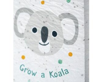 Seeded paper greeting card - Grow a Koala