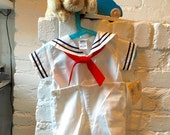 Vintage, Stylish Sailor Suit 12 months New With Tags, Made in USA