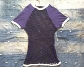 Men's Vintage Duofold Norse Net Cotton Mesh Shirt • Blue sz M