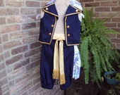 Jake the Pirate Costume,Military costume, Jake and the Neverland pirates, vest, knickers, sash--childrens size 4/5  OOAK