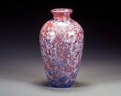 Porcelain Vase - Crystalline Glaze  - Purple, Reddish - Hand Made Ceramics - FREE SHIPPING - #A-1-3868