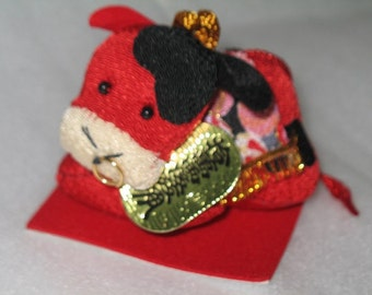 Year of the Cow Stuffed Chirimen Doll
