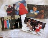 Four Vintage Ronald Reagan Glossy Postcards, Photographs, Unused