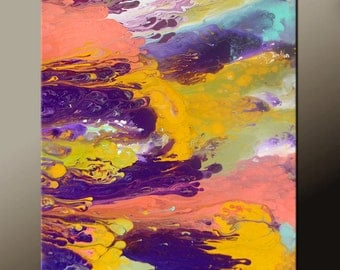 Abstract Art Canvas Painting 18x24 Contemporary Art Paintings by Destiny Womack - dWo - Soul Searching