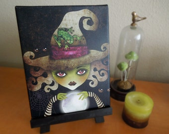 Wicked Witch 8x10 Stretched Canvas Art Print, Gallery Wrapped Canvas, Wizard of Oz Wall Art