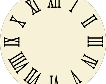 Farmhouse Clock Roman Numerals 4 in tall Decal or Stencils do it yourself