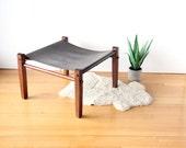 Leather Safari Ottoman NorellGold Medal Folding Furniture Co.