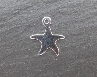 Sterling Silver Starfish Pendant 14mm (CG8106)
