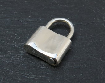 Sterling Silver Padlock Clasp 16mm (CG7455)