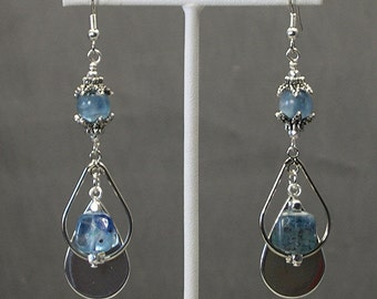 Unique Kyanite Dangle Earrings