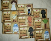 STAR WARS Valentine Cards - Set of 27 - Will you be my Valentine? SWVC 876