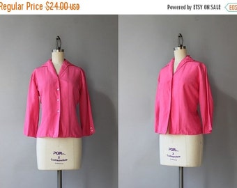 STOREWIDE SALE 1960s Blouse / Vintage 60s Pink Silk Blouse / Fifties Fitted Silk Dalton Blouse