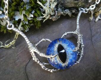 Gothic Steampunk Raven Claw With Bright Blue Eye