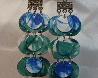 Recycled Paper Earrings from beccasblend