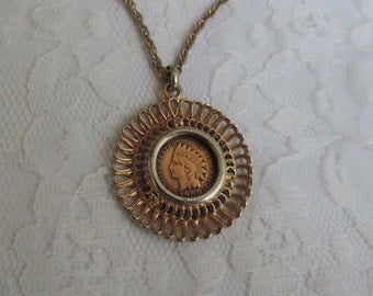 Vintage Indian Head Penny Pendant