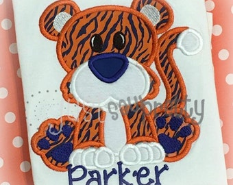 Cute Tiger Embroidery Applique Design