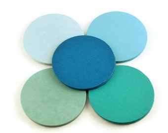 Three Inch Circles Paper Die Cut  3 inch  Circles  in  Ocean Quantity 25