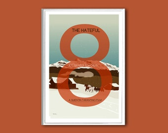 The Hateful Eight movie poster in various sizes