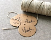20 Kraft Thank You Gift Tags for your Etsy Orders