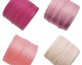 S-Lon Bead Cord Tulips Flower Mixture 0.5mm Diameter 28595 (4 spools) Pink S-lon, Braiding Cord Pink Crochet Thread, Macrame Cord, Superlon